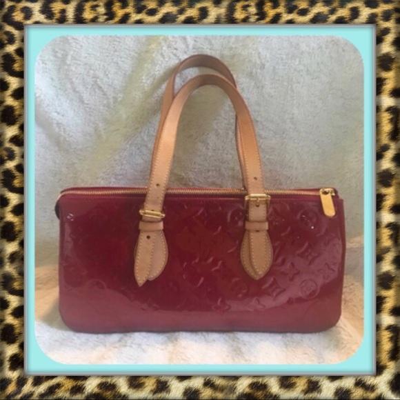 Louis Vuitton Handbags - AUTHENTIC Louis Vuitton Red Rosewood Ave Bag